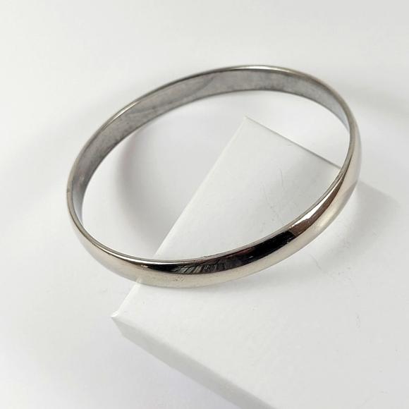 Vintage Monet Silver Bangle Bracelet